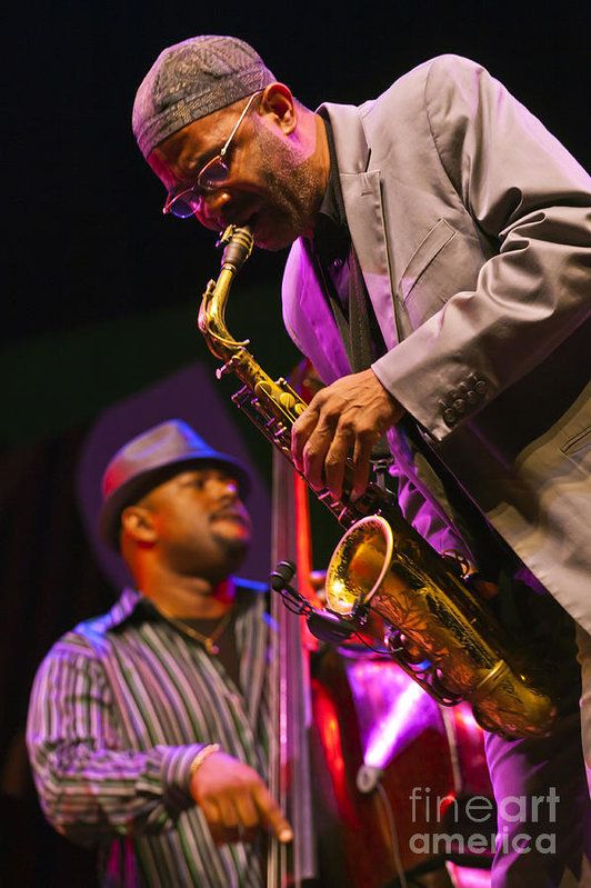 Craig Lovell Poster featuring the photograph Kenny Garrett And Christina Mcbride by Craig Lovell