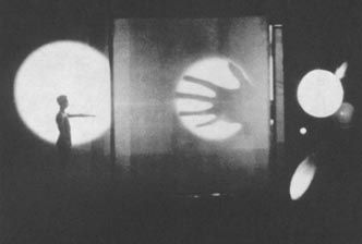 Light Play with Projections from Bauhaus Theater. Moholy-Nagy referred to this idea as the theater of totality