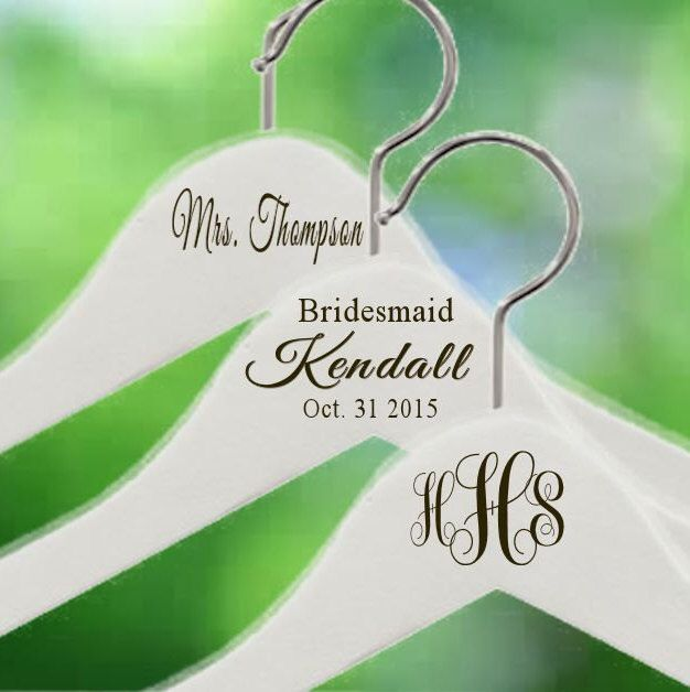 Ships Immediately Engraved~Notched Wedding Hanger~ Personalized Bridal Party Wedding Dress Hanger Bridal Shower Gift Bride Bridesmaid Hanger by TheEliteBride on Etsy https://www.etsy.com/listing/250327788/ships-immediately-engravednotched