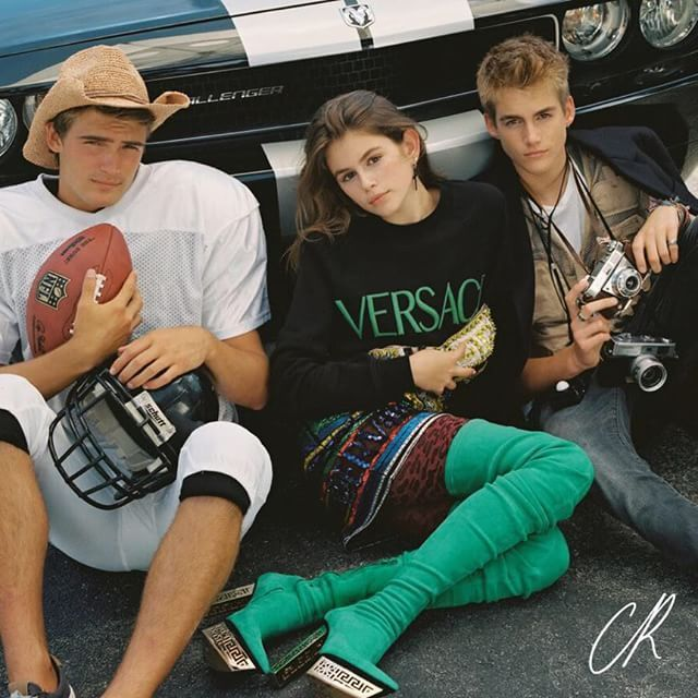 Cindy Crawford's Kids Model For CR Fashion Book - http://site.celebritybabyscoop.com/cbs/2015/07/14/cindy-crawfords-fashion #CindyCrawford, #KaiaGerber, #Model, #Presleygerber, #Supermodel