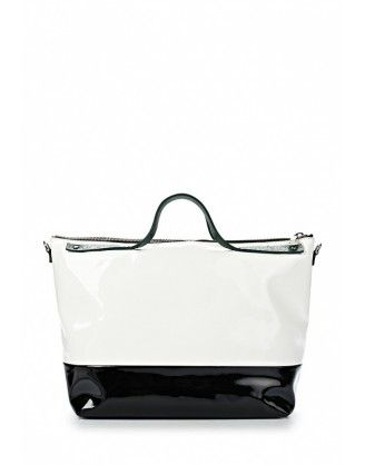 #handbag #women #iceberg COLLECTION: 2014 SIZE: (W) 36cm, (H) 22cm, (D) 19cm COLOUR: White & Black MATERIAL: African nail, Leather http://houseoffashion.gr/index.php?route=product/product&path=33_70&product_id=61