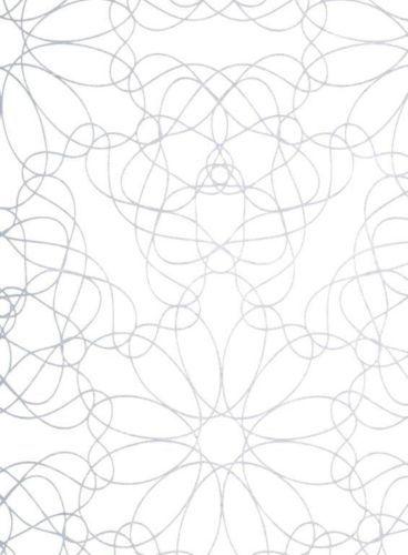 Wachstuch Tischdecke Meterware eckig rund oval florale Linien grau M19027 | eBay