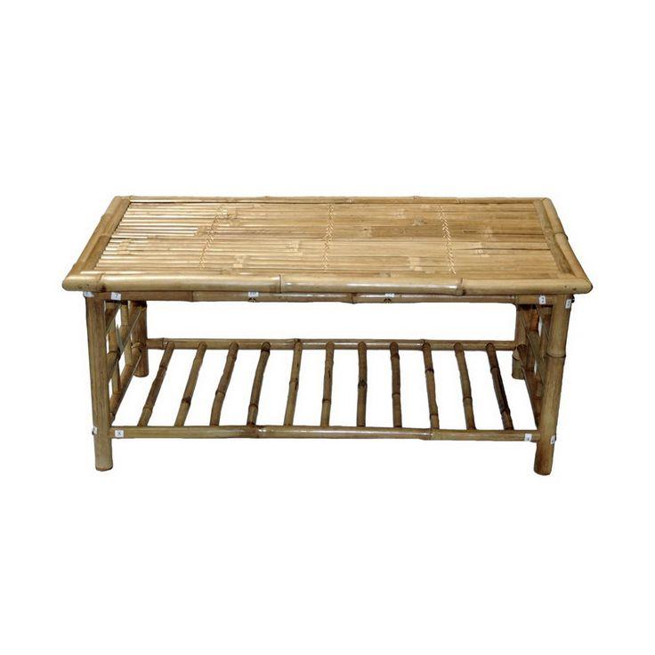 112 Bamboo 54 Bamboo Rectangular Coffee Table