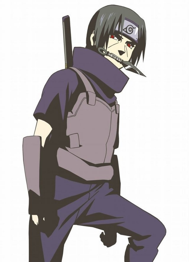 I love it when he wears anbu clothing Itachi<3
