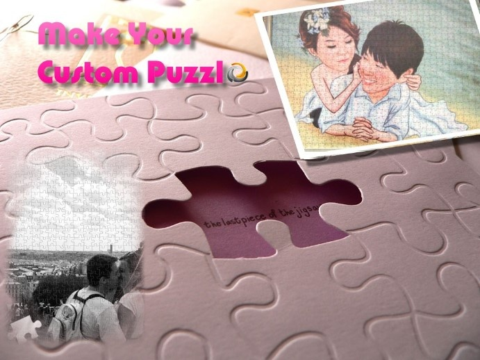 Customer Puzzle http://www.fulcorn.com/wedding-gift/puzzle.html