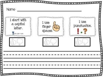 Sentence Dictation Paper with Rubric. Genius.