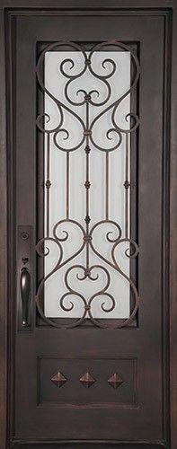 "46"" x 97"" Victorian Prehung Iron Door Unit"
