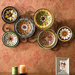 Scattered Plates Wall Sculpture - inspired by the charm of old-world Tuscan design.--Want this on my kitchen wall