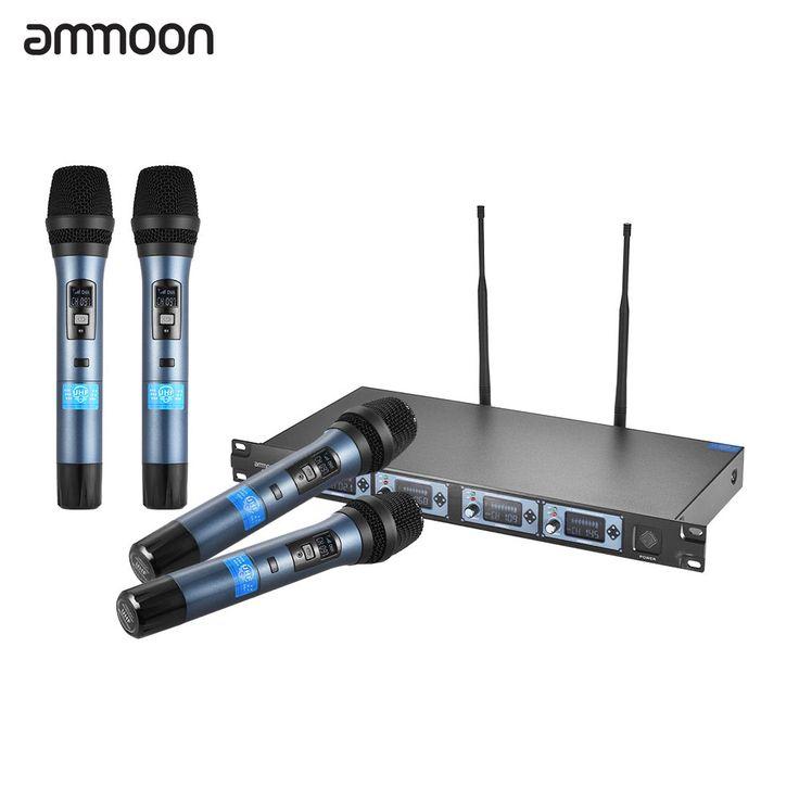 ammoon 4D Professional 4 Channel UHF Wireless Handheld Sales Online eu - Tomtop.com