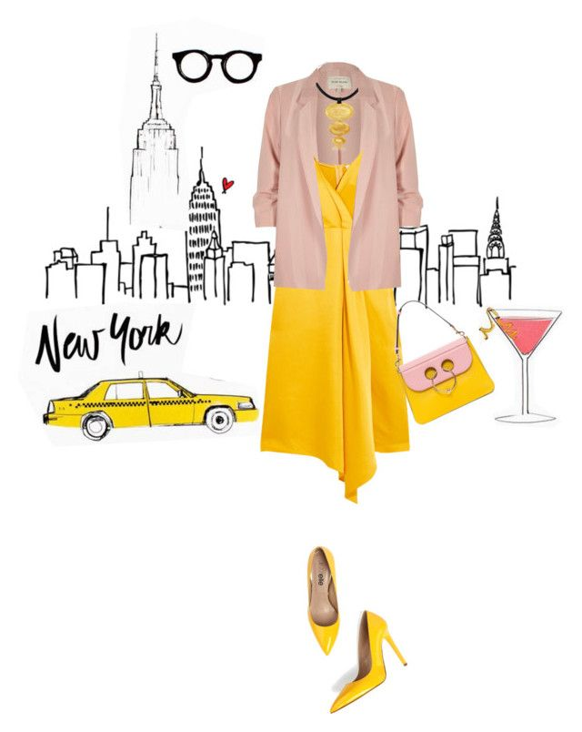 """new york girl"" by oriza-int ❤ liked on Polyvore featuring River Island, Victoria Beckham, Jezzelle and Stefano Patriarchi"