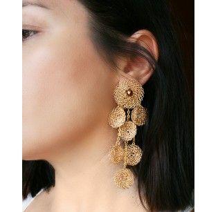 Χρυσά Σκουλαρίκια με Κύκλους