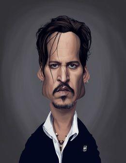 Johnny Depp by robart at zippi.co.uk art | decor | wall art | inspiration | caricature | home decor | idea | humor | gifts