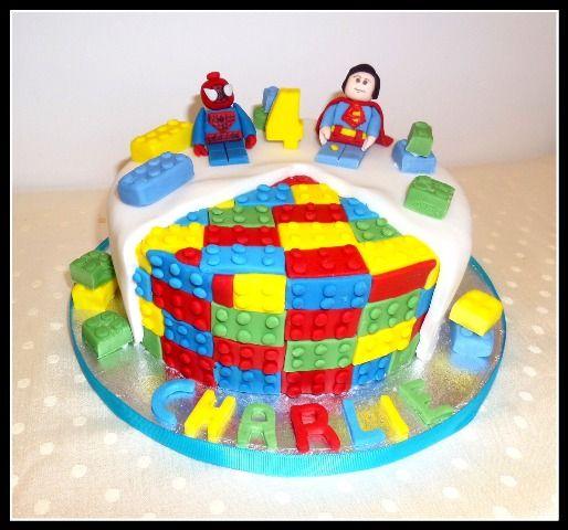 Lego marvel avengers cake