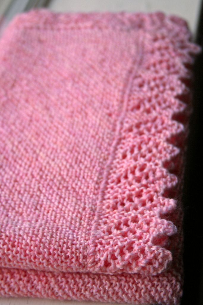 Ravelry: Easy Baby Blanket with Lace Option by Denny Kelly