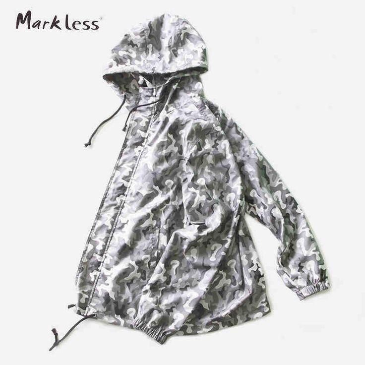 Markless Spring Men's Watertight Front-Zip Hooded Rain Jackets Bape Camouflage Loose Casual Lightweight Waterproof Jacket 6109