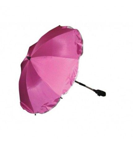 Parasolka do wózka z filtrem UV Kees ciemny róż