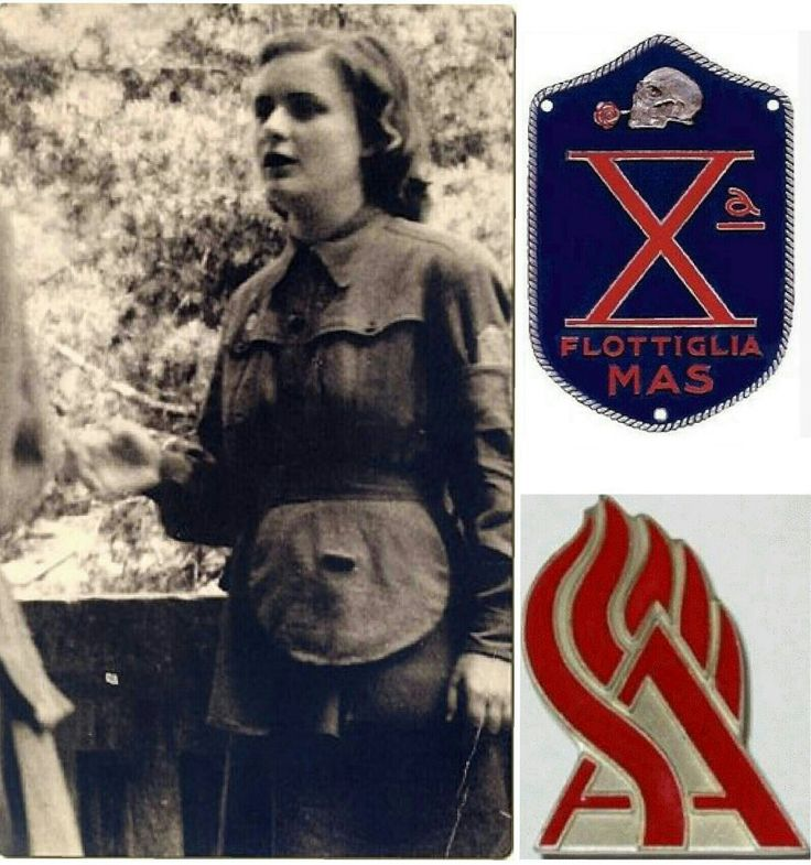 "SAF ""Servizio Ausiliario Femminile"" It existed also women and girls within RSI's armed forces .They were the volunteers of the SAF (Feminine Auxiliary Service ) whose duties were as cooks ,secretaries or paramedics / nurses. 