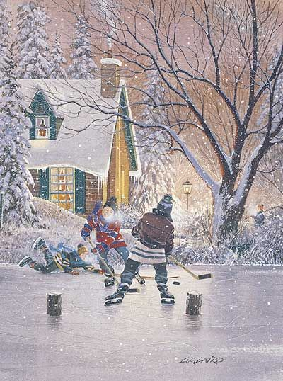 Ice hockey the way it was meant to be played