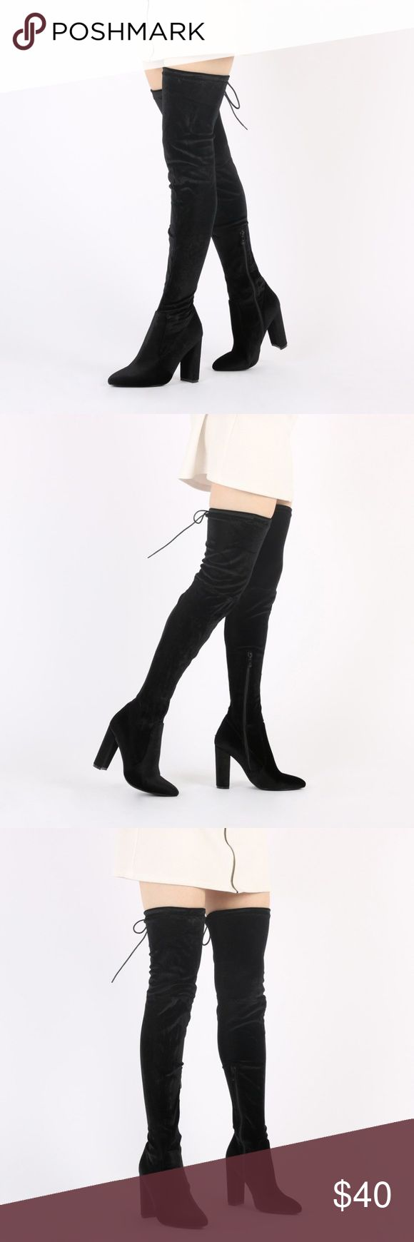 thigh-high boots black thigh-length boots Shoes Over the Knee Boots