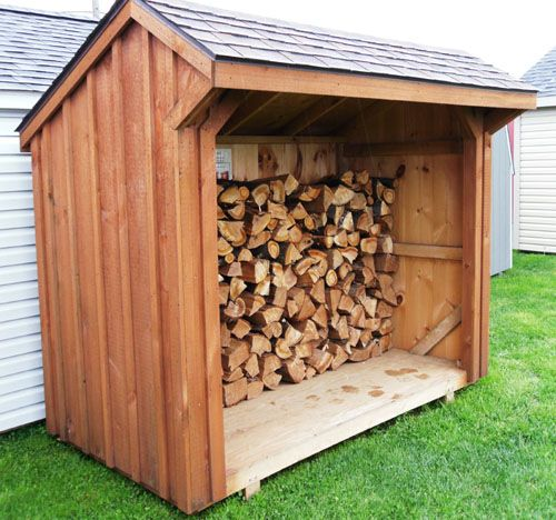 42 best images about firewood shelters on pinterest for Outdoor wood shed