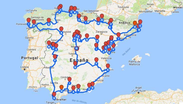 ¿Nos sigues en nuestro Facebook? …. compartimosideas de viaje geniales como esta 🙂 La base de esta idea es un primer mapa que agrupa los pueblos más bonitos de España según la asociación oficial que se encarga de seleccionarlos. Pero para armar este itinerario desde el blog, nos tomamosla libertad de completar la lista agregandomás …