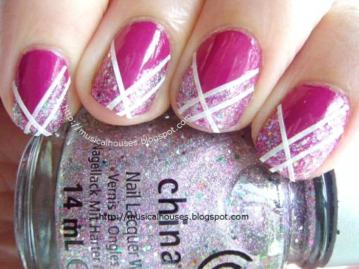 Nail Art with China Glaze Full Spectrum, Essie Foot Loose, and Striping Tape! - Of Faces and Fingers