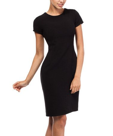 Look what I found on #zulily! Black Cutout Sheath Dress #zulilyfinds