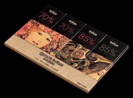 Surtido Orígenes 4x70g - tabletas - Chocolates Amatller