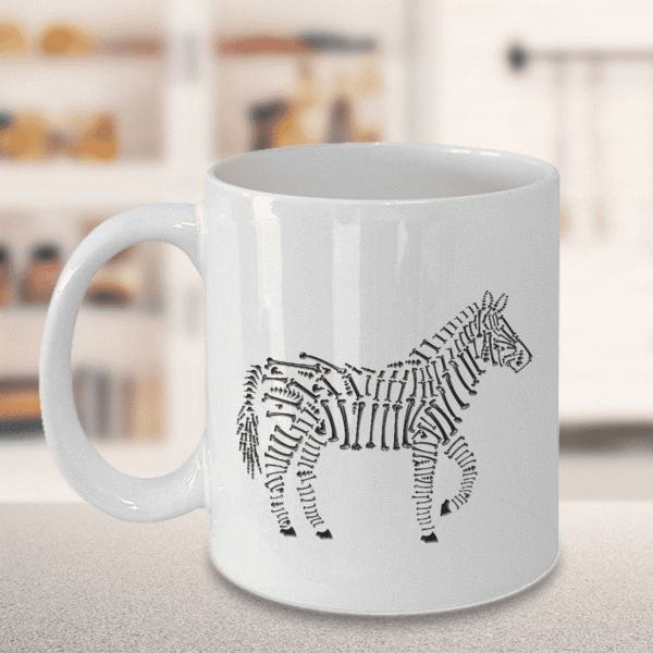 Zebra Lover's Gift, Zebra Bones, Zebra Lover's Coffee Mug Limited Time OnlyThis item is NOT available in stores.We create fun coffee mugs that are sure to please the recipient. Tired of boring gifts that don't last? Give a gift that will amuse them for years!A GIFT THEY WILL ADORE - Give them a mug to shout about! Our