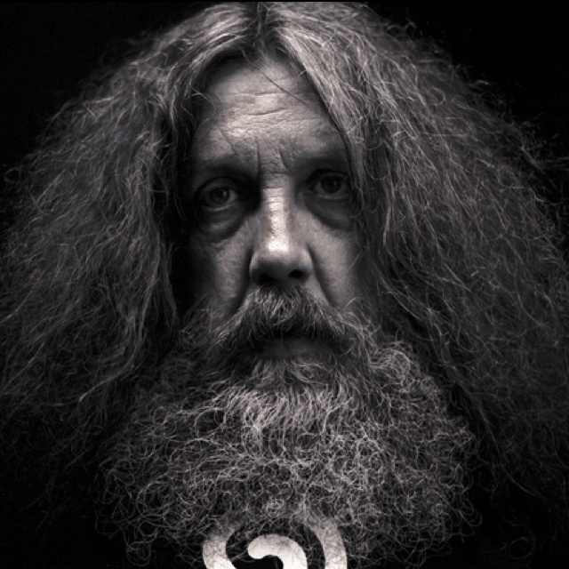 Alan Moore,monumental British comics writer.