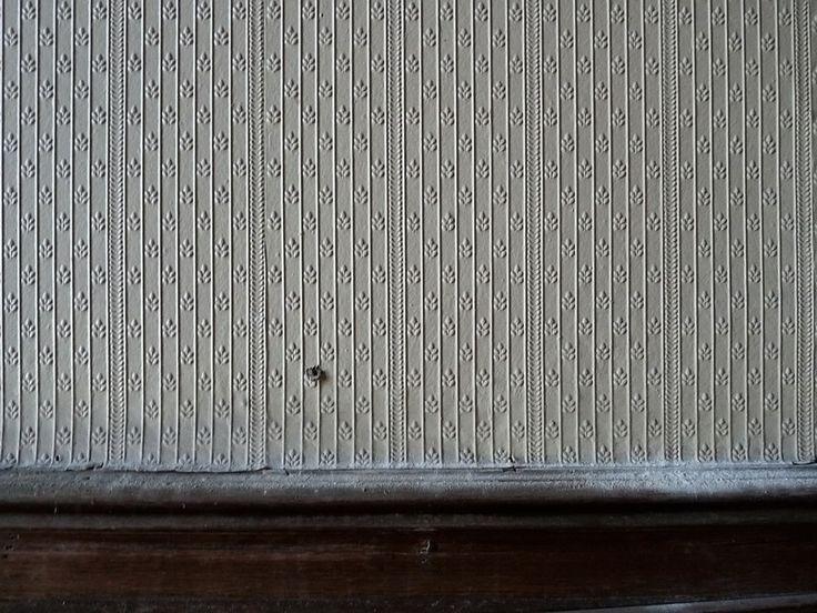 Тисненые обои в одном из помещений дворца барона А. Л. Штиглица. Фото 2009 г.