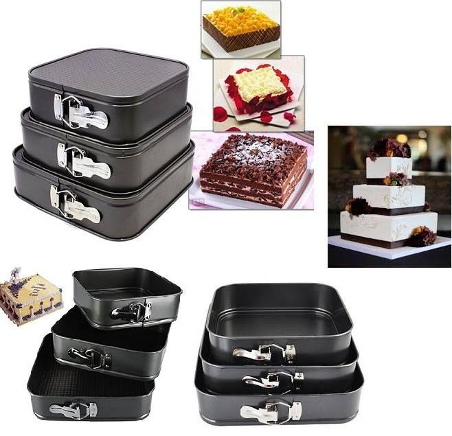 3pc Square Nonstick Cake Pan Set Just Rs 1790 Islandwide Cash On