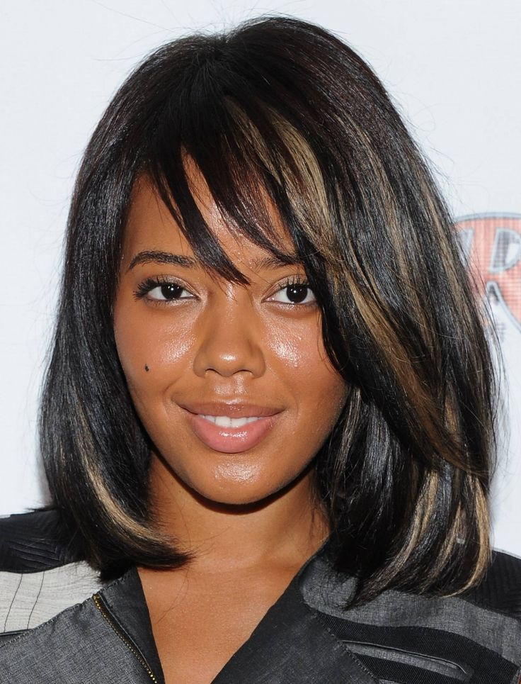 Lovely cute African American Hairstyles for Middle Hair