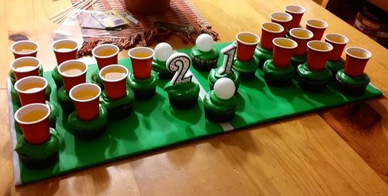 Beer Pong Jello Shot Beer Cupcakes for 21st Birthday
