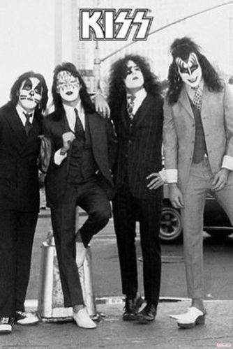 KISS - GROUP IN SUITS POSTER - 24x36 ROCK BAND SIMMONS MUSIC 241207