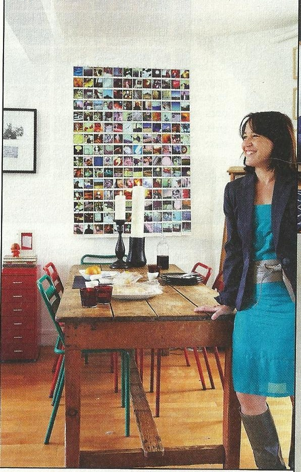 DIY ikea magazine photo wall idea -- inexpensive way to create a beautiful montage. Need to get on this now !
