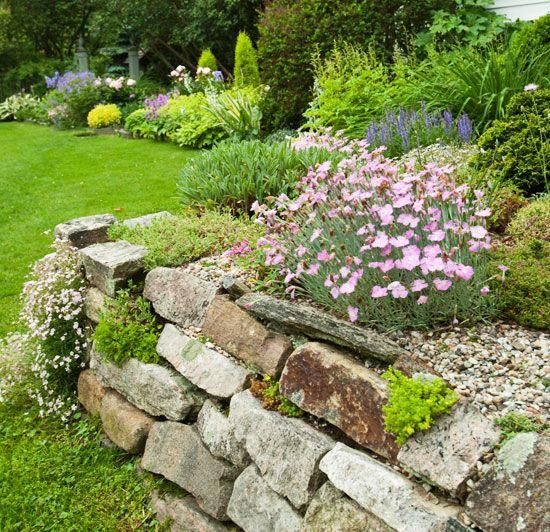 Pretty Stone Garden Walls: 269 Best Images About Gardens On Pinterest