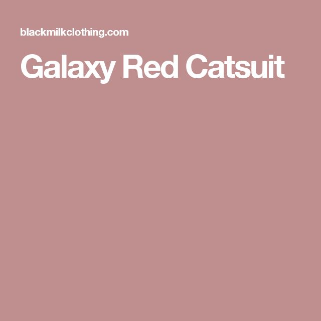 Galaxy Red Catsuit