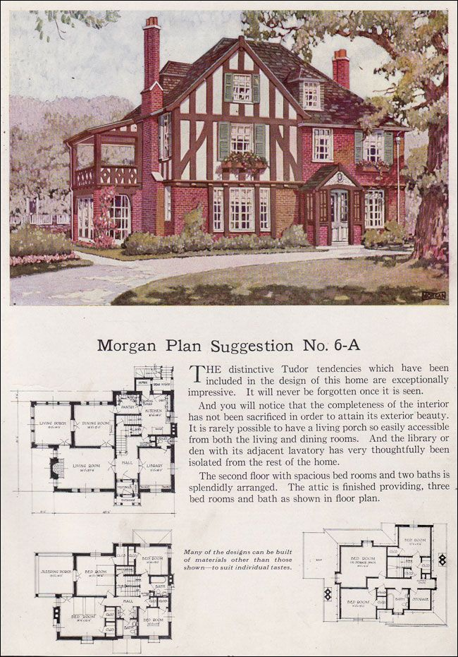 258 best images about vintage home plans on pinterest for Historic tudor house plans