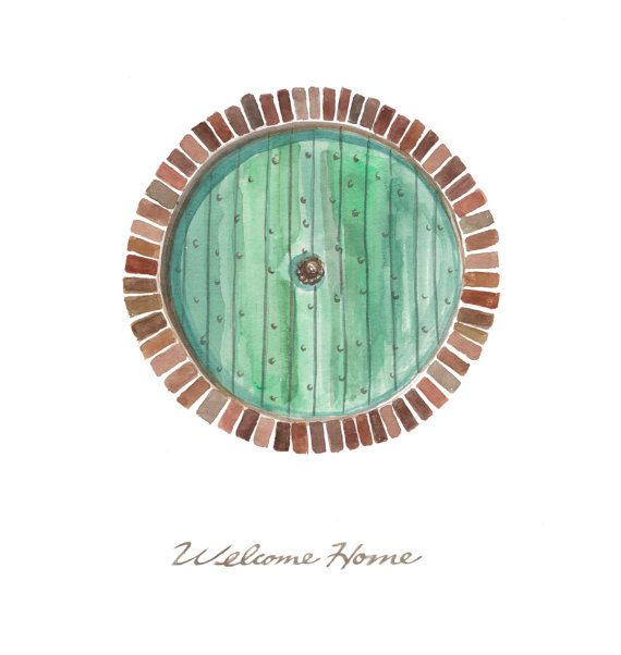 Hobbit Door Welcome Home 11x14 print by autogeography on Etsy