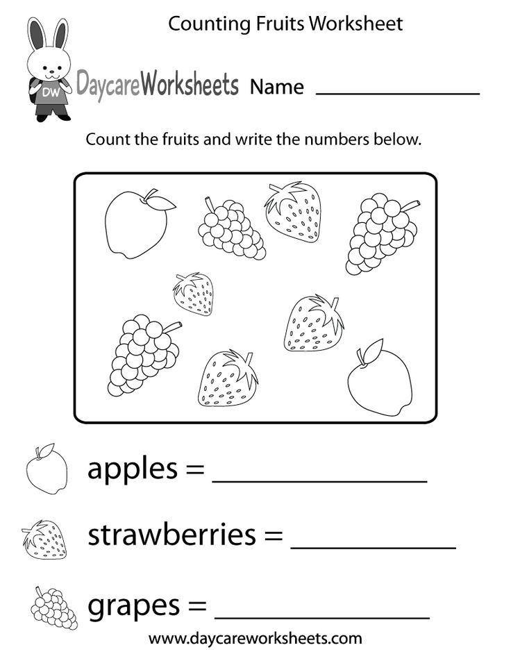 1000 Images About Preschool Counting Worksheets On