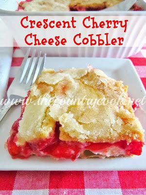 The Country Cook: Crescent Cherry Cheese Cobbler