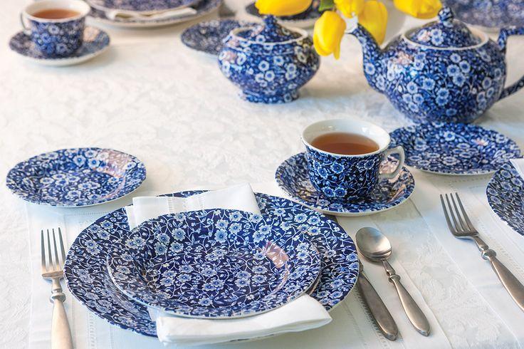 The Complete Table: A Pretty Blue Calico Tea