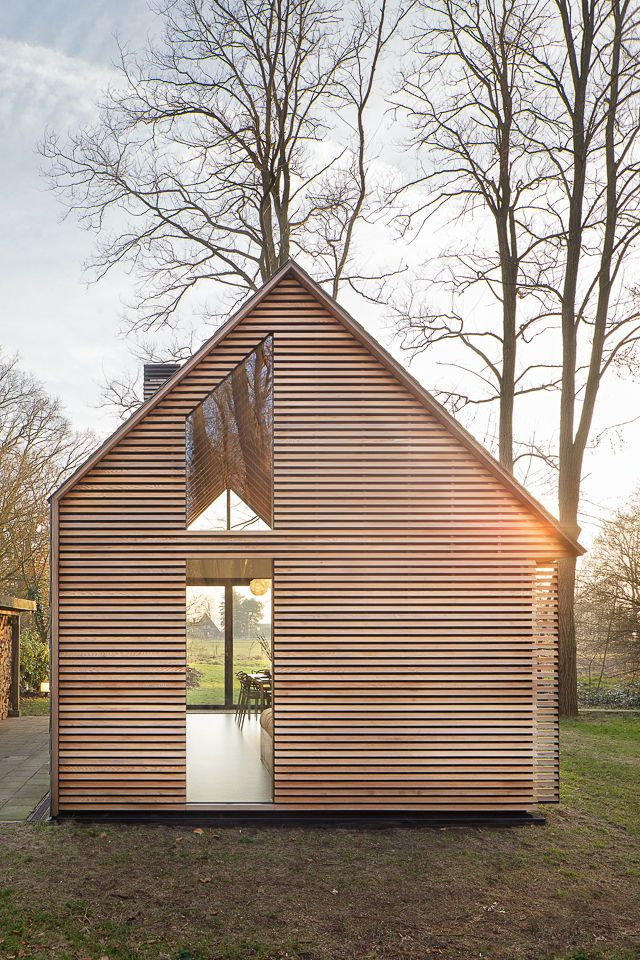 Asymmetrical Handmade Cabin, The Netherlands