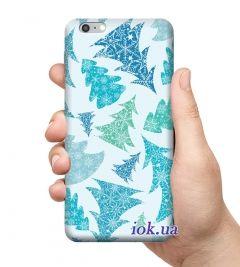 Чехол для смартфона с принтом - Голубые елки