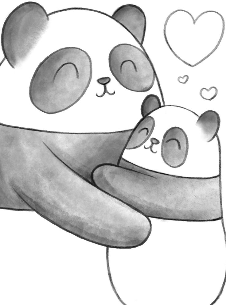 Wallpaper Hello Kitty Pink Cute Panda Hug Work In Progress Illustration Panda Art