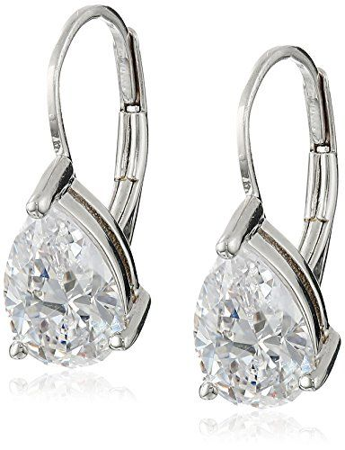 Platinum-Plated Sterling Silver and Cubic Zirconia Earrings (2 cttw) Amazon Collection http://www.amazon.com/dp/B0015MN8ZG/ref=cm_sw_r_pi_dp_ymWWvb11FJ2NK