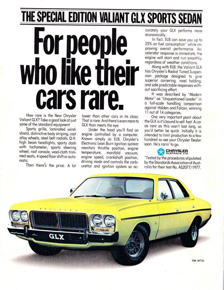 https://flic.kr/p/f2hK76 | 1979 CM Chrysler Valiant GLX Sedan Aussie Original Magazine Advertisement | X