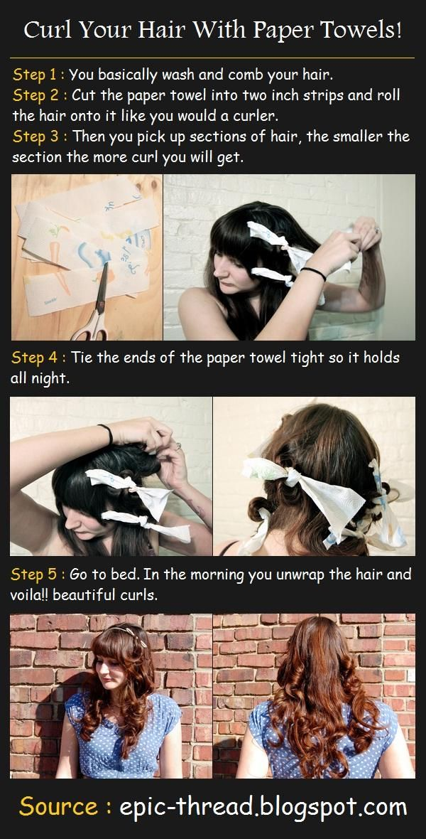 How To Curl Your Hair With Paper Towels!