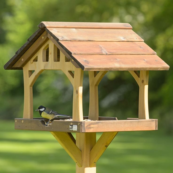 Rspb Country Barn Bird Table Rustic Bird Feeders Bird